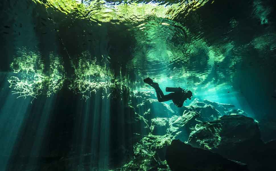 Diving in Cenotes of Mexico