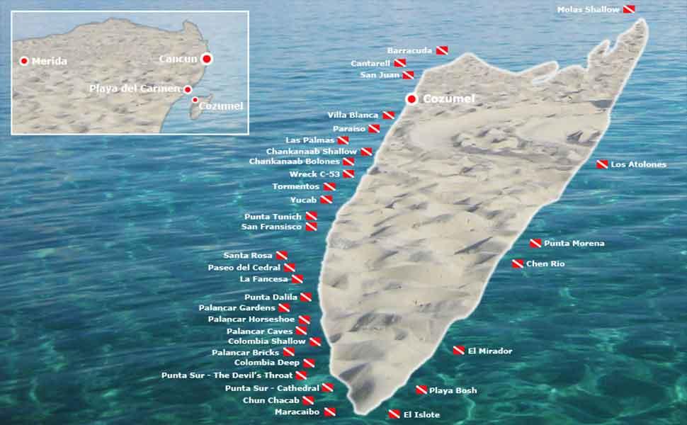 Dive sites Cozumel